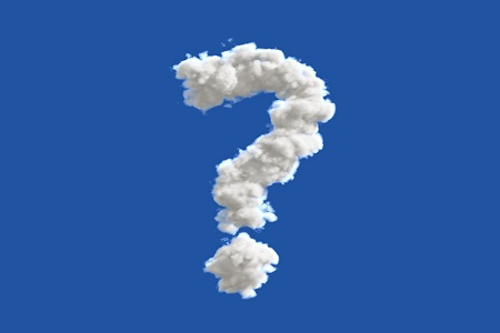question mark in the sky